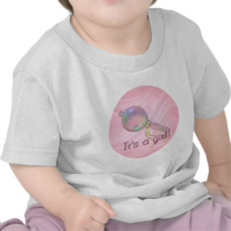 IT'S A GIRL RATTLE by SHARON SHARPE Tees
