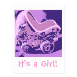 It's a Girl Save the Date Postcard