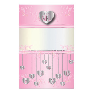 It's a Girl Scrap booking Customised Stationery