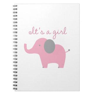 It's A Girl Spiral Notebook