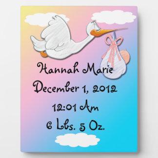 It's A Girl - Stork Keepsake  Plaque