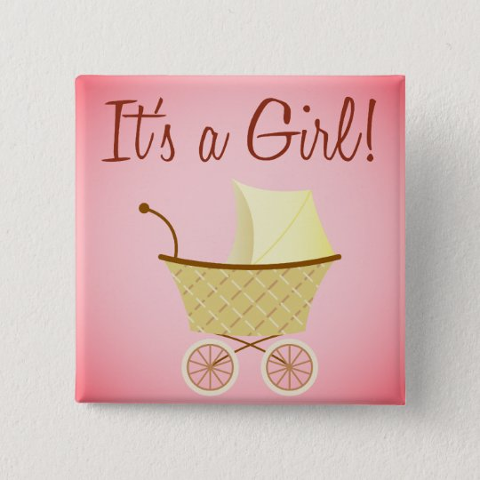 It's A Girl! Stroller Button