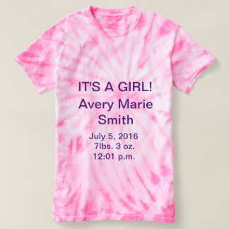 IT'S A GIRL Tie Dyed T Shirt