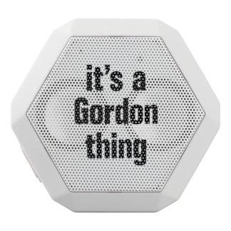 its a gordon thing.