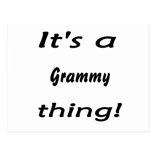 It's a grammy thing! postcard