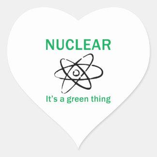 ITS A GREEN THING HEART STICKER