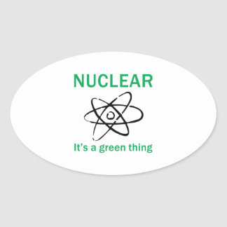 ITS A GREEN THING OVAL STICKER