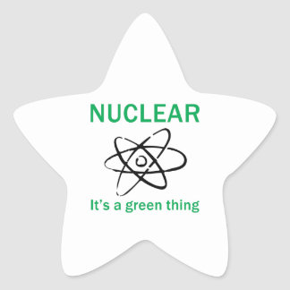 ITS A GREEN THING STAR STICKER