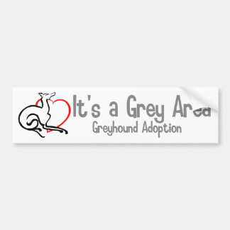 It's a Grey Area Logo - Wide Bumper Sticker