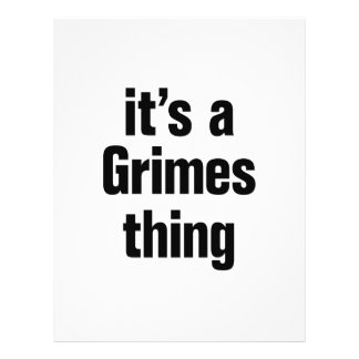 its a grimes thing 21.5 cm x 28 cm flyer