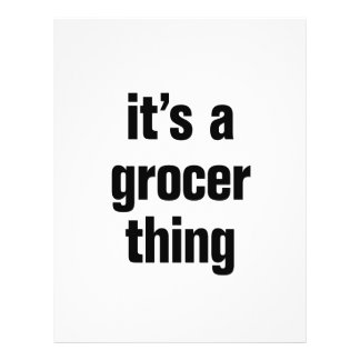 """its a grocer thing 8.5"""" x 11"""" flyer"""