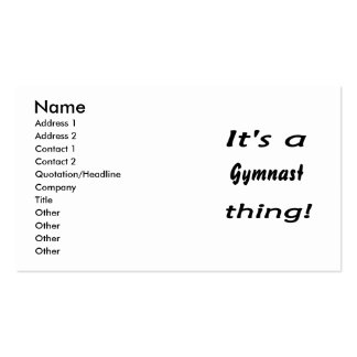 It's a gymnast thing! business cards