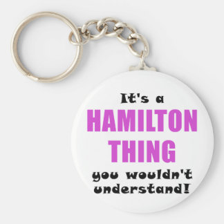 Its a Hamilton Thing You Wouldnt Understand Basic Round Button Key Ring