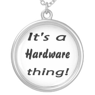 It's a hardware thing! round pendant necklace