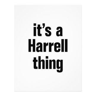 its a harrell thing 21.5 cm x 28 cm flyer