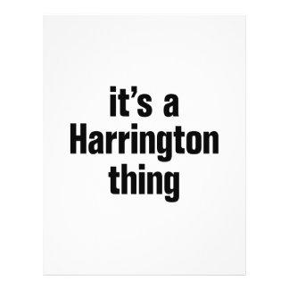 "its a harrington thing 8.5"" x 11"" flyer"