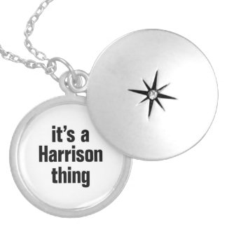its a harrison thing round locket necklace