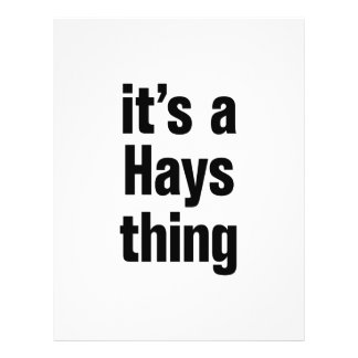 """its a hays thing 8.5"""" x 11"""" flyer"""