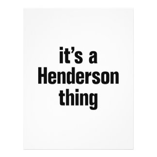 "its a henderson thing 8.5"" x 11"" flyer"