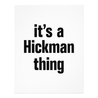 its a hickman thing 21.5 cm x 28 cm flyer