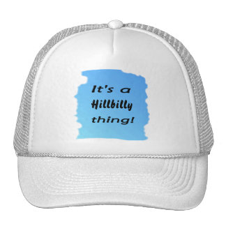It's a hillbilly thing! mesh hat