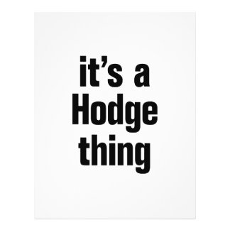 its a hodge thing 21.5 cm x 28 cm flyer