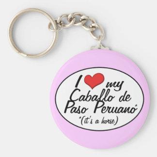 It's a Horse! I Love My Caballo de Paso Peruano Basic Round Button Key Ring