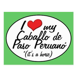 It's a Horse! I Love My Caballo de Paso Peruano Postcard