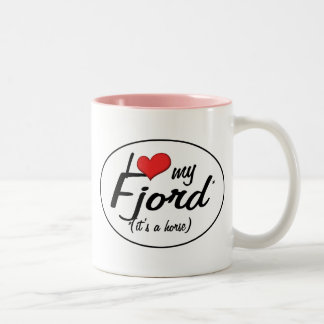 It's a Horse! I Love My Fjord Two-Tone Mug
