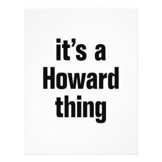 "its a howard thing 8.5"" x 11"" flyer"