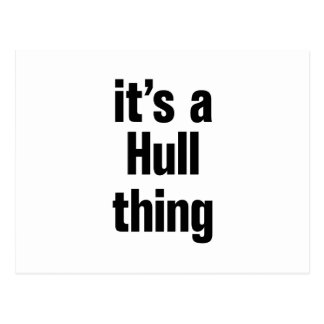 its a hull thing postcard