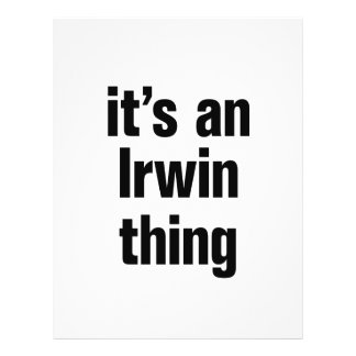 its a irwin thing 21.5 cm x 28 cm flyer