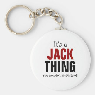 It's a Jack thing you wouldn't understand Basic Round Button Key Ring