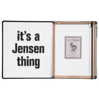 its a jensen thing iPad cover