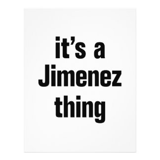 its a jimenez thing 21.5 cm x 28 cm flyer