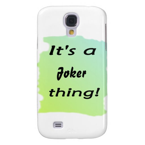 It's a Joker thing! Galaxy S4 Cover