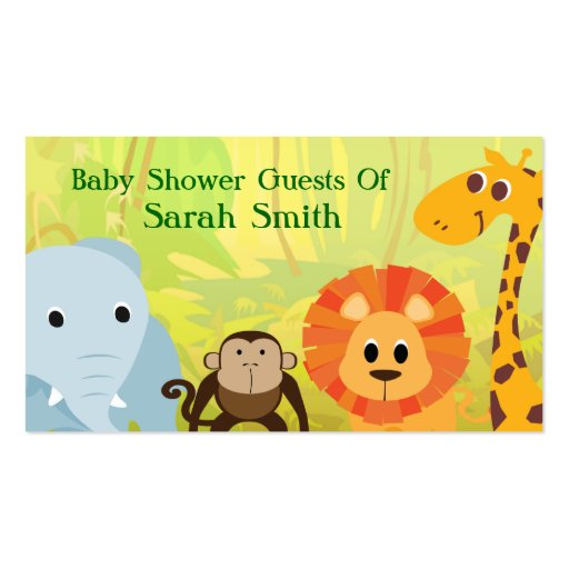 It's A Jungle Baby Shower Business Card Template