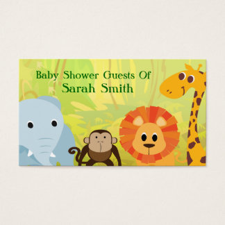 It's A Jungle Baby Shower Business Card