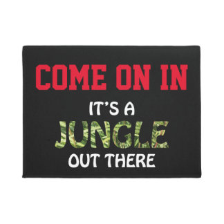 IT'S A JUNGLE OUT THERE DOORMAT