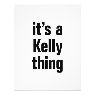"its a kelly thing 8.5"" x 11"" flyer"