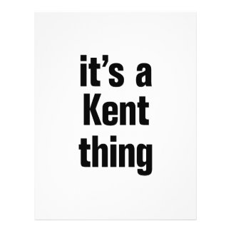 """its a kent thing 8.5"""" x 11"""" flyer"""