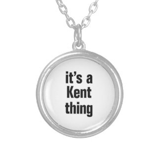 its a kent thing round pendant necklace