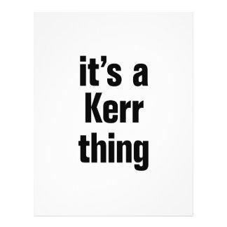 "its a kerr thing 8.5"" x 11"" flyer"