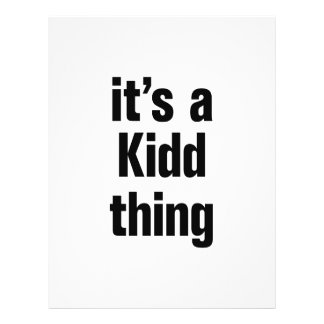 """its a kidd thing 8.5"""" x 11"""" flyer"""