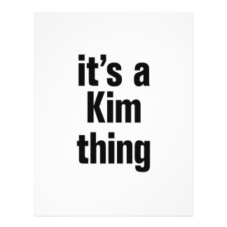 """its a kim thing 8.5"""" x 11"""" flyer"""