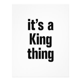 "its a king thing 8.5"" x 11"" flyer"