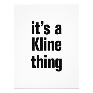 """its a kline thing 8.5"""" x 11"""" flyer"""