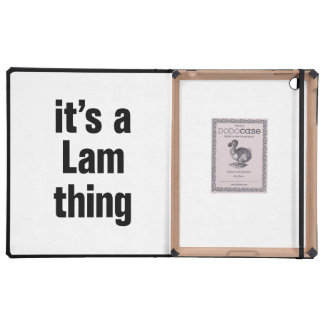 its a lam thing cases for iPad