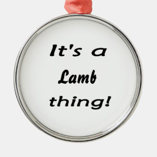 It's a lamb thing! christmas ornament