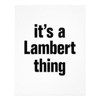 """its a lambert thing 8.5"""" x 11"""" flyer"""